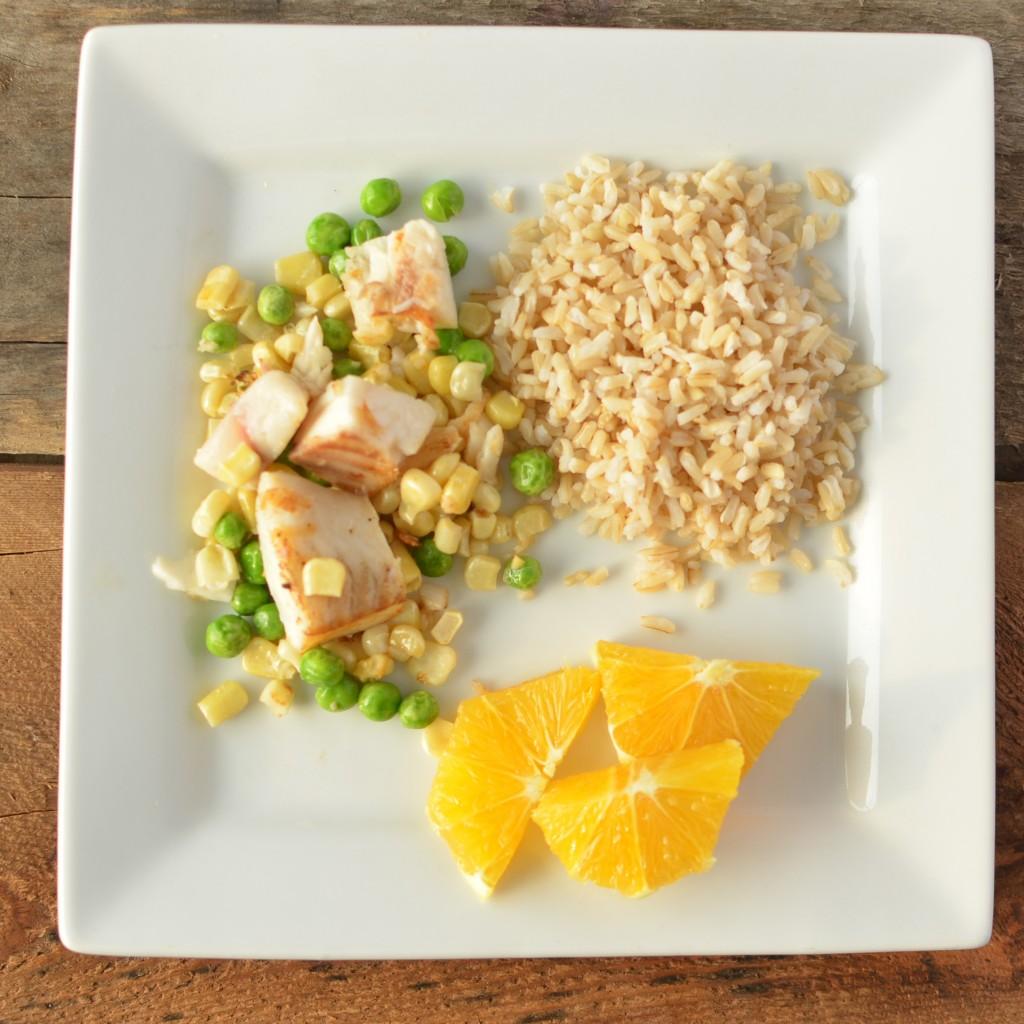 Tilapia and brown rice