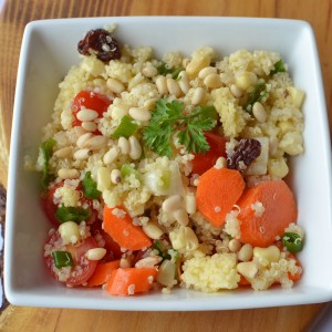 quinoa and pinenuts