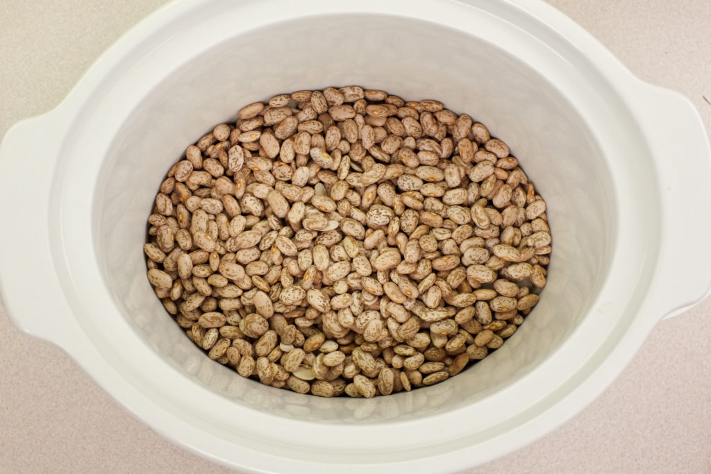 How to make refried beans in a Crockpot without soaking!
