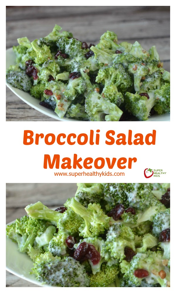 BROCCOLI SALAD MAKEOVER! Seriously, the best way to eat broccoli- my ...