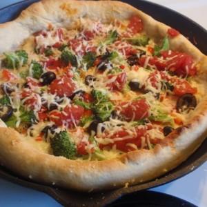 Deep Dish Veggie Pizza
