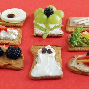 Easy Snack options- Cracker Toppings