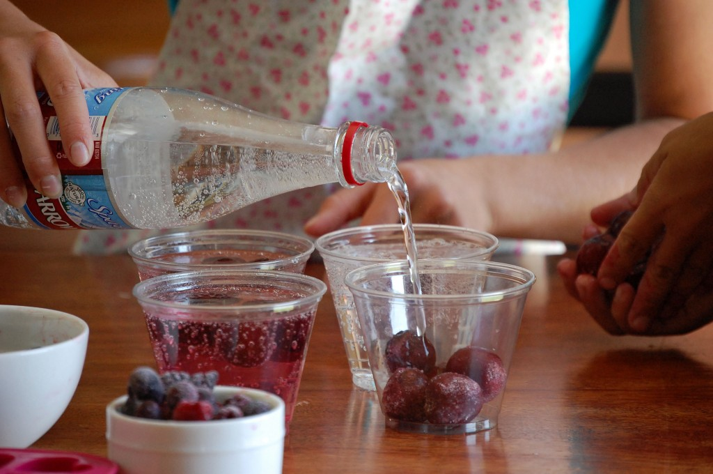 Cherry Cocktail Recipe. The cherries are coming to an end here in Utah. Good thing we froze a few bags of them for this healthy- and totally fancy, drink!