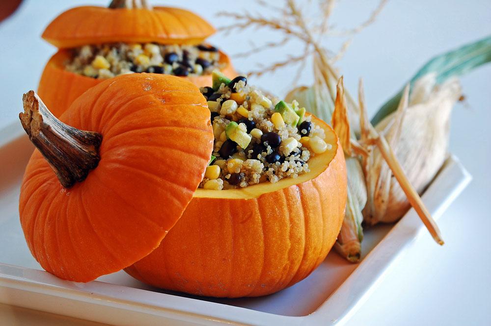 Roasted Stuffed Pumpkin | Healthy Ideas for Kids