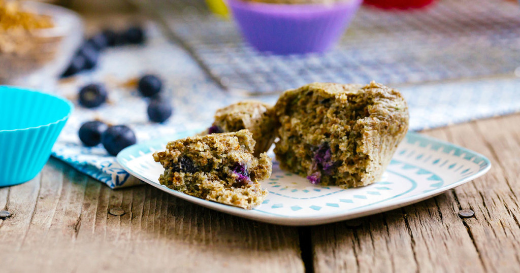 Bran Blueberry Muffins FB