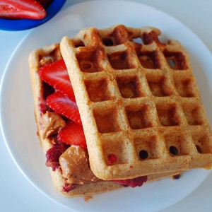 Double Nut-butter Wafflewich for Lunch!