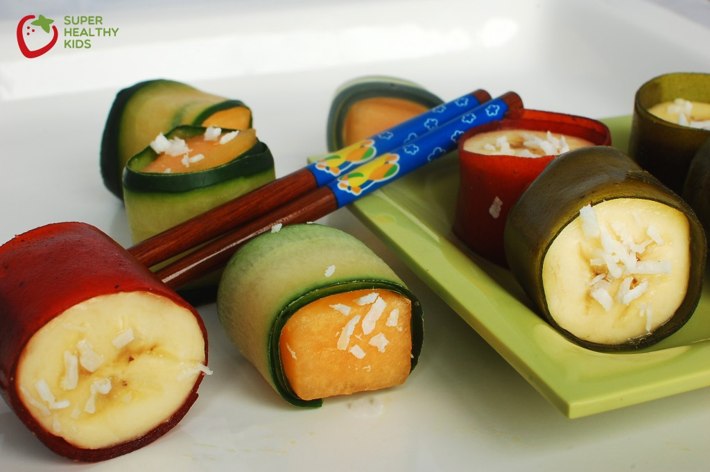 Party Food: Fruit Sushi. These make a great after-school snack!