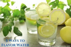 5 ways to flavor water
