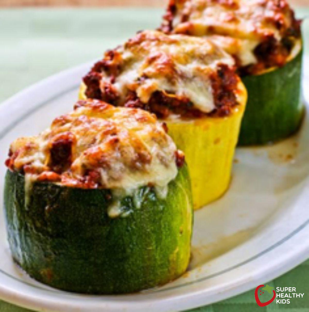 Meat, Tomato, and Mozzarella Stuffed Zucchini Cups | Super ...