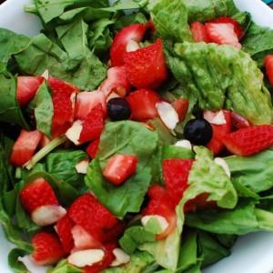 Kids Eating Salad with Kid Friendly Vinaigrette