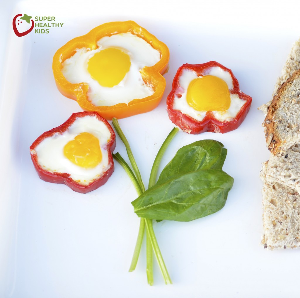 Egg in a Red Bell Pepper. A fun way to eat eggs...with some extra ...