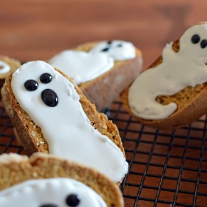 7 Grain Pumpkin Biscotti Ghosts