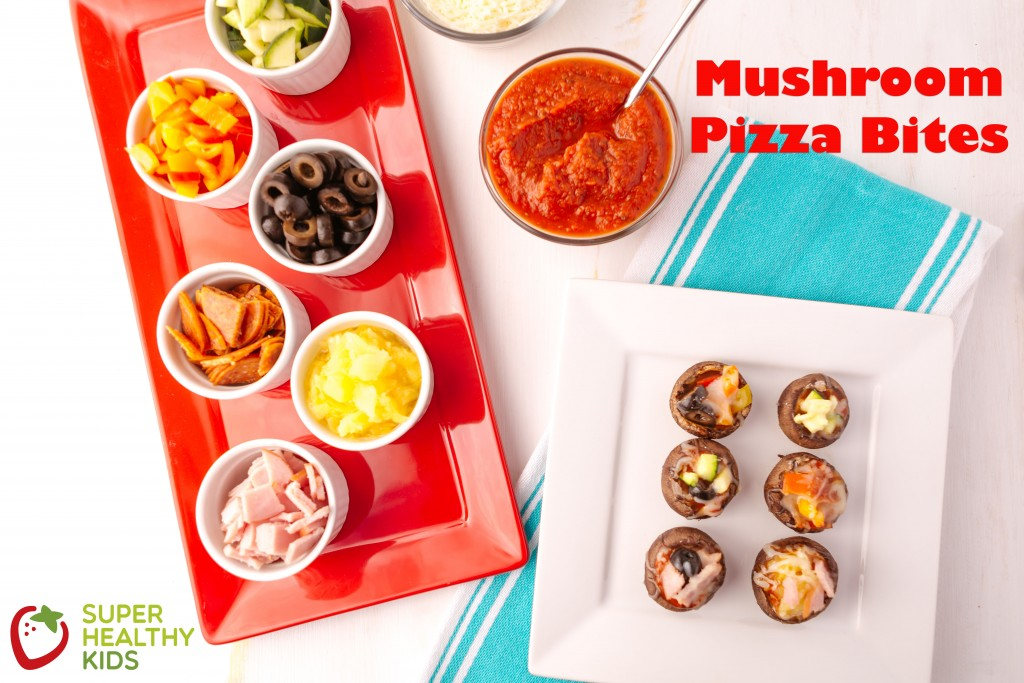 Mushroom Pizza Bites. These are great as a meal or as a snack!