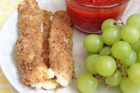 baked whole grain mozzarella sticks