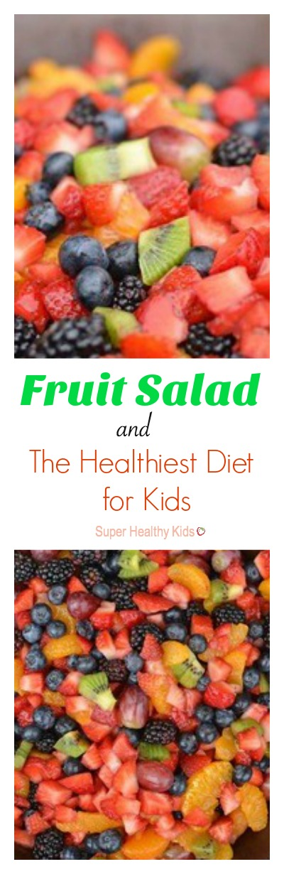 FOOD - Fruit Salad and The Healthiest Diet for Kids. This one feeds a lot! Perfect for a potluck. www.superhealthykids.com/fruit-salad-and-the-healthiest-diet-for-kids