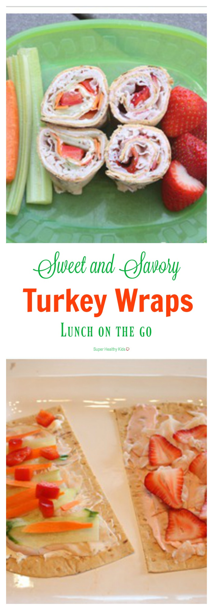 Sweet and Savory Turkey Wraps. Here's your next go-to lunch! http://www.superhealthykids.com/quick-lunch-for-kids-sweet-and-savory-turkey-wraps/