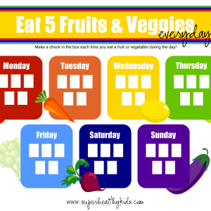 5 Tips for 5 A Day + Free Fruit and Veggie Printable