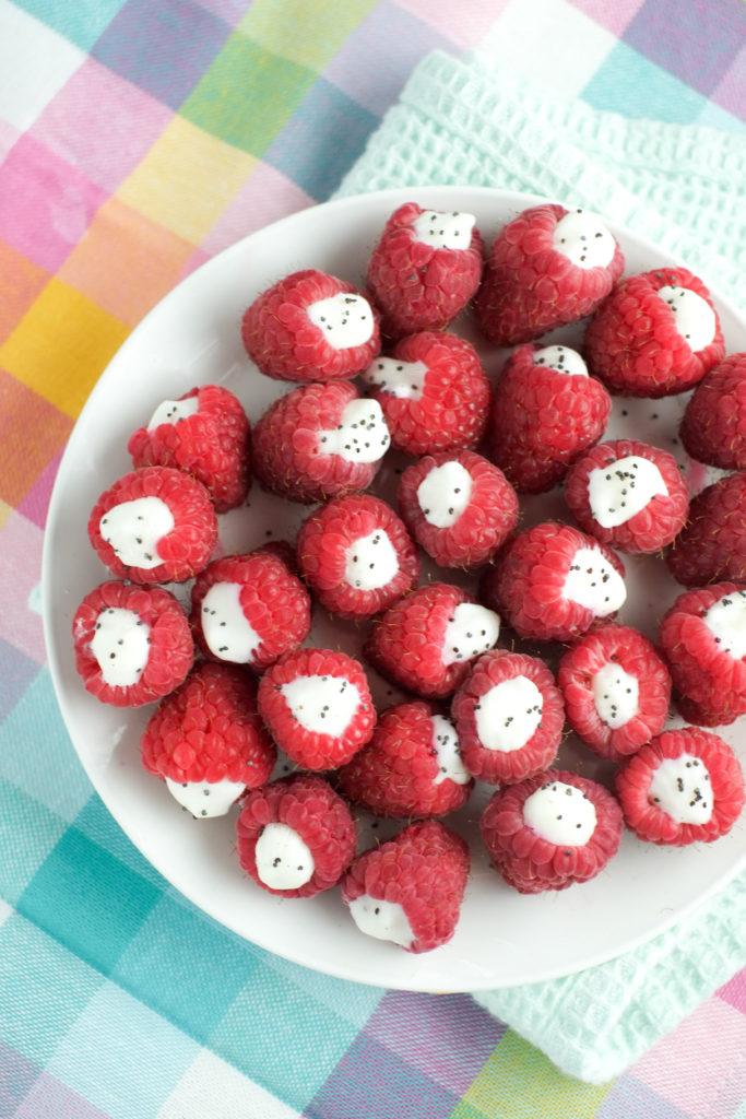 Frozen Yogurt Raspberries   Homemade Fruit Snack   Super Healthy Kids   Food and Drink