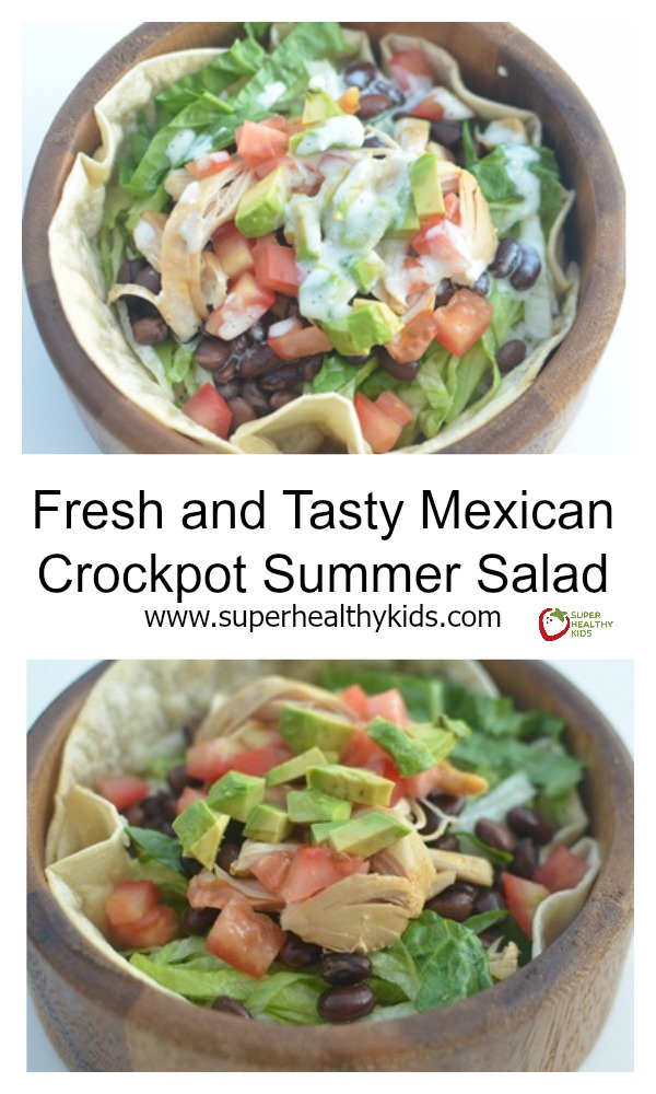 Fresh and Tasty Mexican Crockpot Summer Salad. Turn a quick salad into your kids favorite dinner!