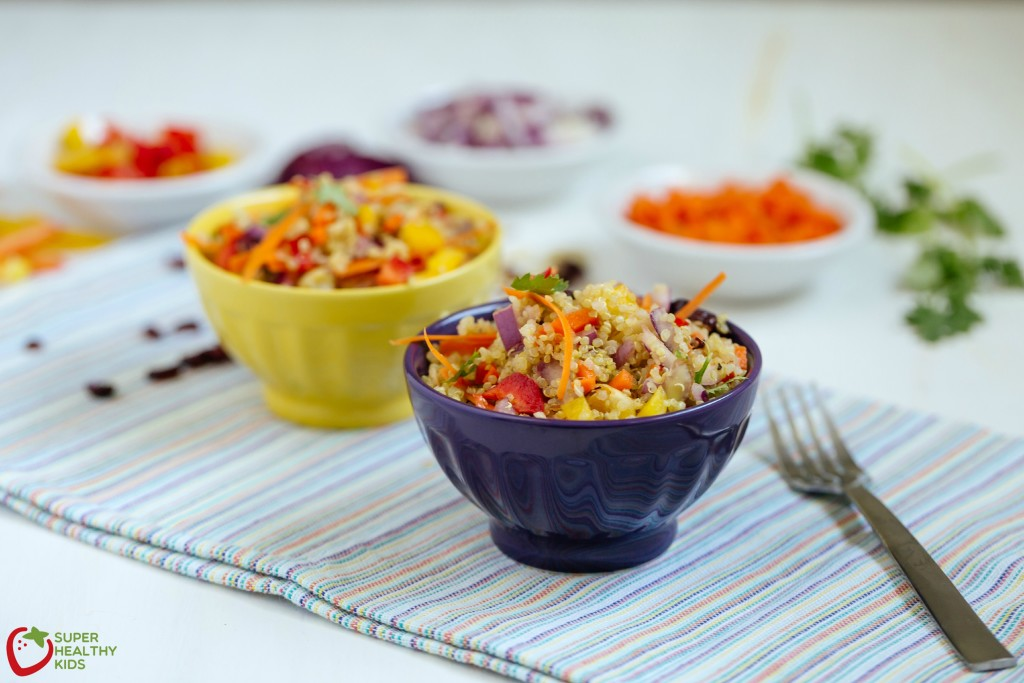 Summer Quinoa Salad. Fresh, packed with nutrition and can be a main dish or a side! www.superhealthykids.com