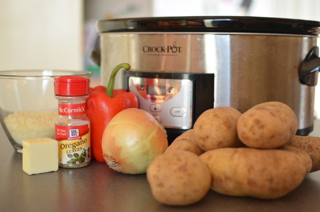 Crockpot Italian Potatoes- Easy Dinner! This is my go-to dinner on busy weeknights!