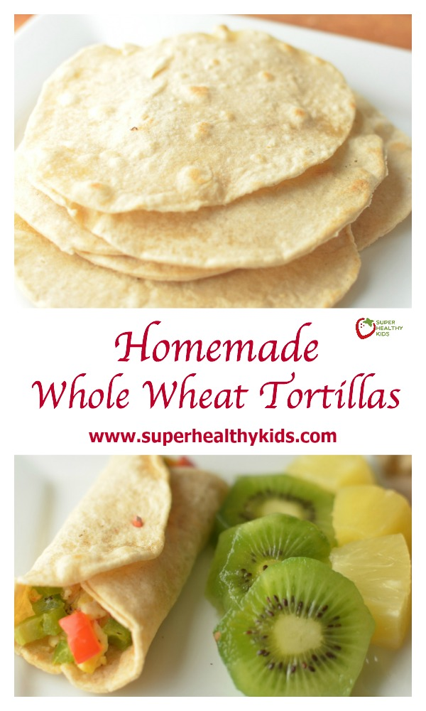 Homemade Whole Wheat Tortillas. If you haven't made homemade tortillas with your kids yet, it's a must do kitchen activity for the summer! Making your own is not only cheaper and healthier, but it teaches kids good kitchen skills!