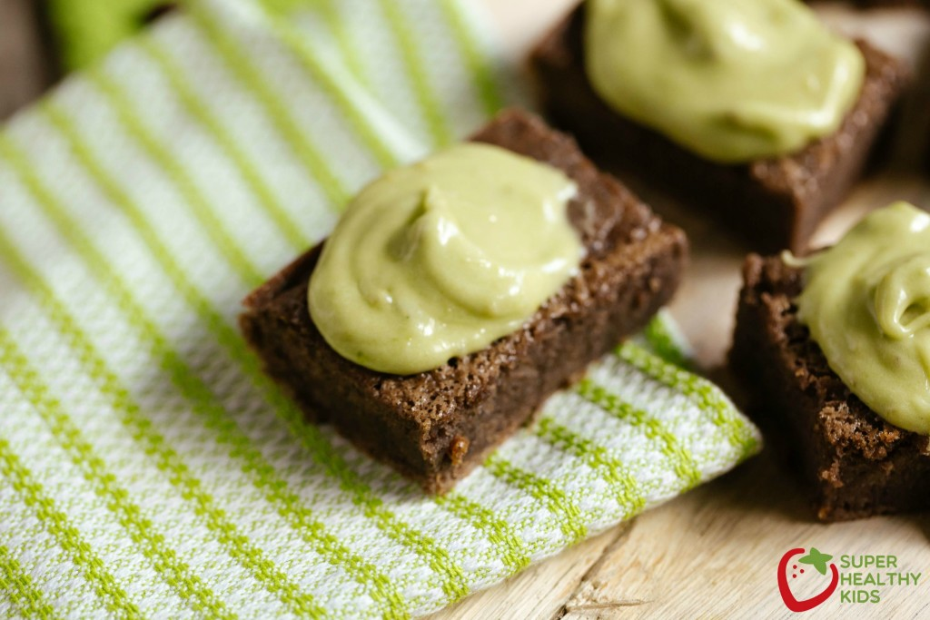 Black Bean Brownie Recipe and Dye-free Green Frosting