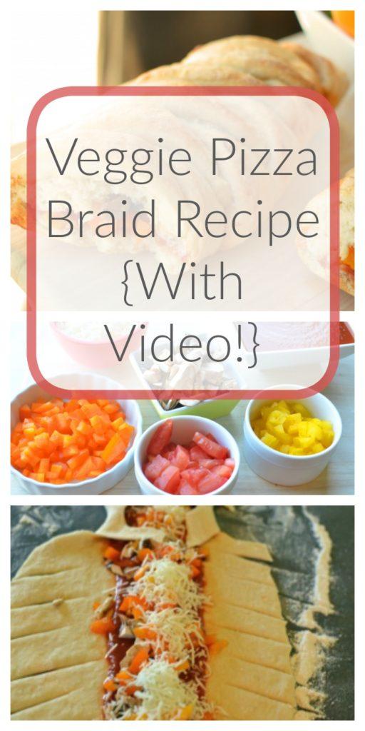 Veggie Pizza Braid Recipe {With Video!}