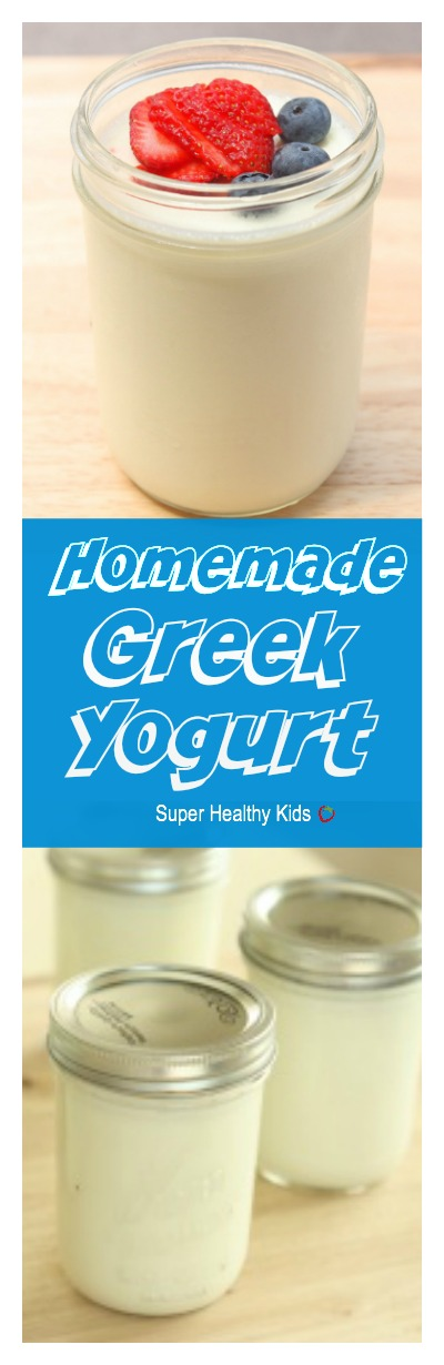 Homemade Greek Yogurt Recipe. We love how thick Greek Yogurt is, and now you can make your own! Higher in protein, and so creamy!