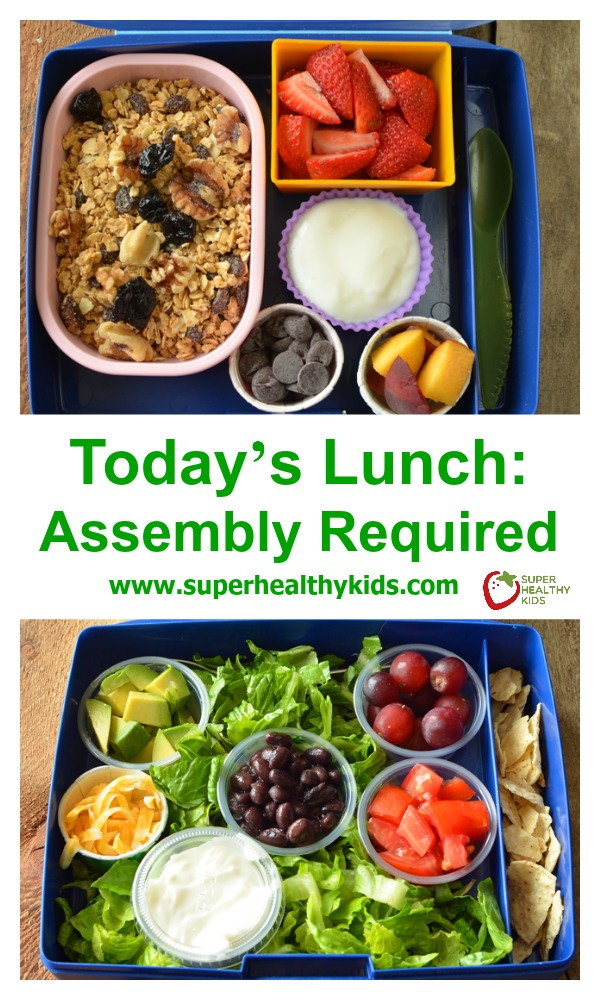 "Today's Lunch: Assembly Required. Thinking ""outside the box"" with these DIY lunches!"