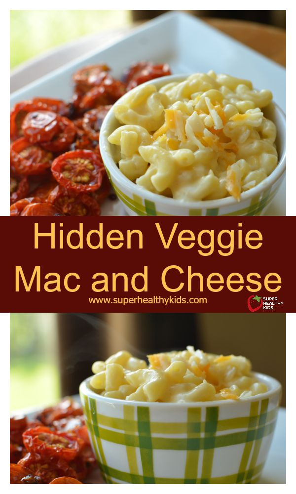 Hidden Veggie Mac and Cheese Recipe. Another mac and cheese classic, made healthier- with hidden veggies!