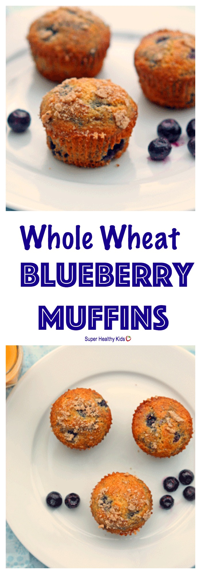 FOOD - Whole Wheat Blueberry Muffins. These muffins are moist ...