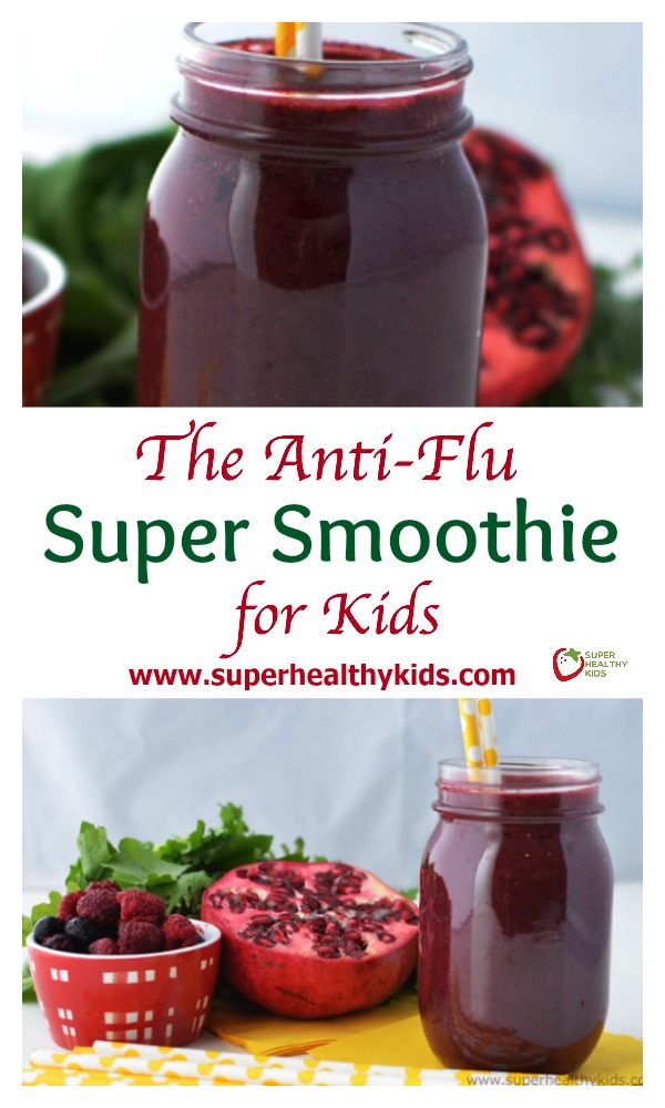The Anti-Flu Super Smoothie for Kids. Our immune boosting daily vitamin!