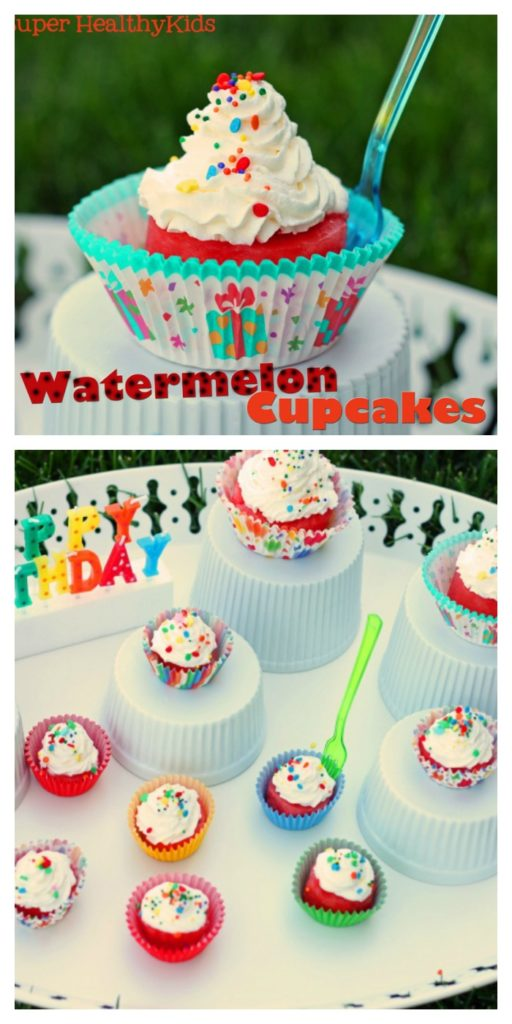 Watermelon Cupcakes Recipe {No-Added Sugar}