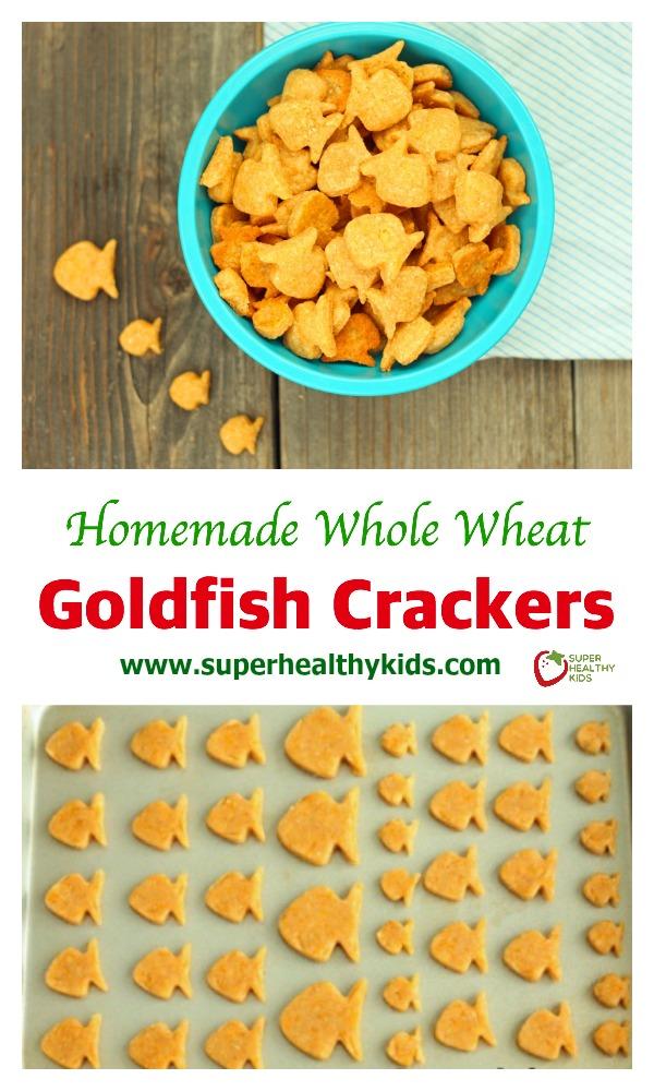 - Homemade Whole Wheat Goldfish Crackers Recipe. Homemade goldfish ...