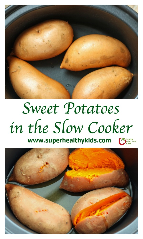 Sweet Potatoes in the Slow Cooker. Creamiest potato ever!