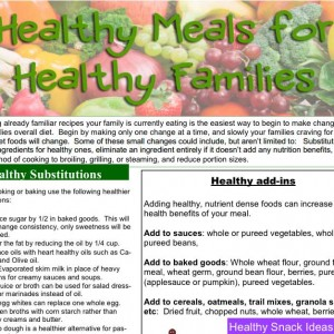 Healthy Substitutions Handout