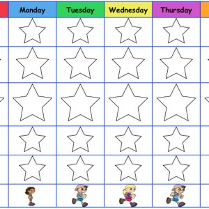 Healthy Eating Star Tracking Sheet