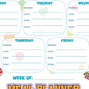 Meal Planning Chart (white)