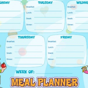 Meal Planning Chart (blue)