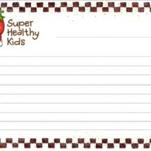 Blank Recipe Cards