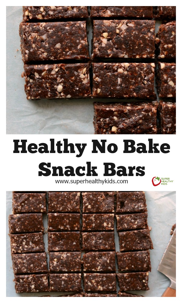Healthy No Bake Snack Bar Recipe. Make these for your snack today (and then eat them for breakfast tomorrow too!)