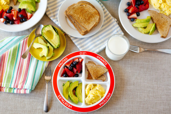 MyPlate Divided Kids Plate Breakfast