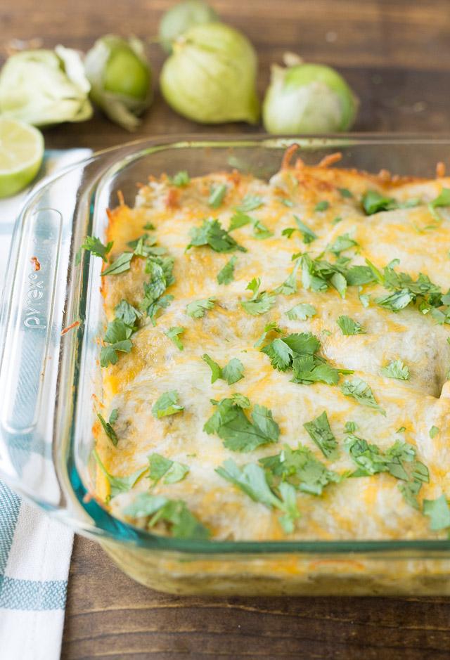 Green Chili Chicken Enchiladas | Healthy Ideas for Kids