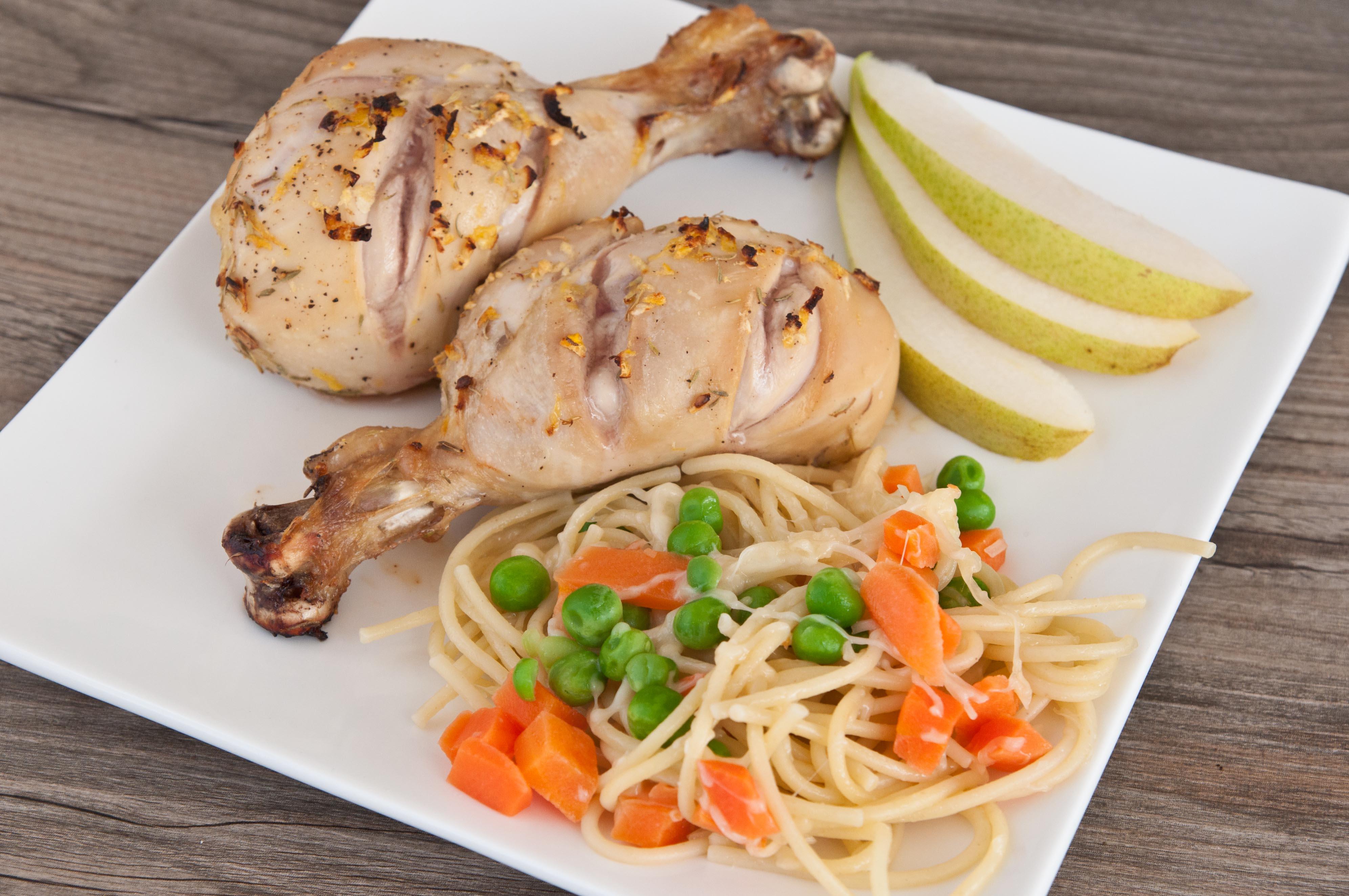 Lemon Chicken with Parmesan Pasta & Peas | Super Healthy Kids
