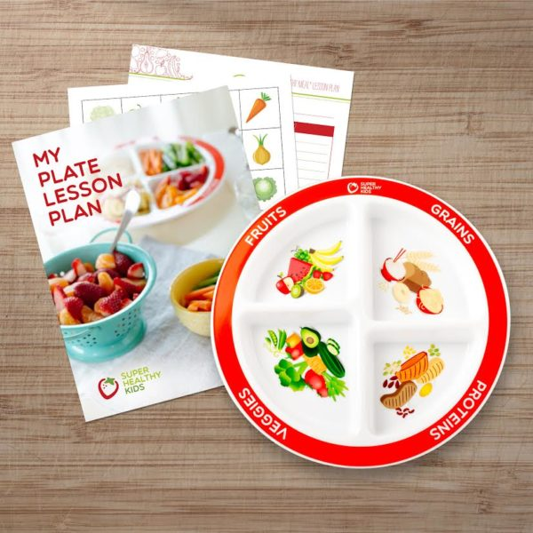 MyPlate Divided Kids Plate with Lesson Plan