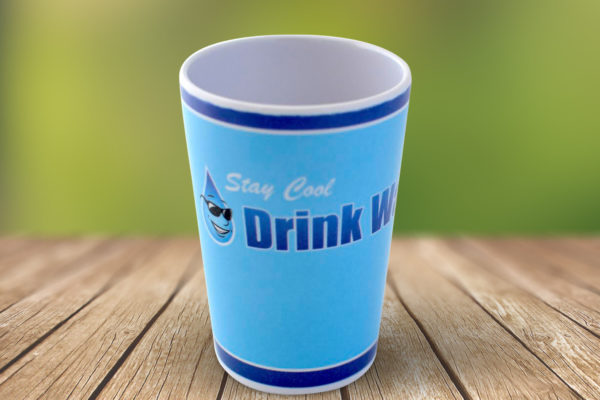 New Water Cup Green Background