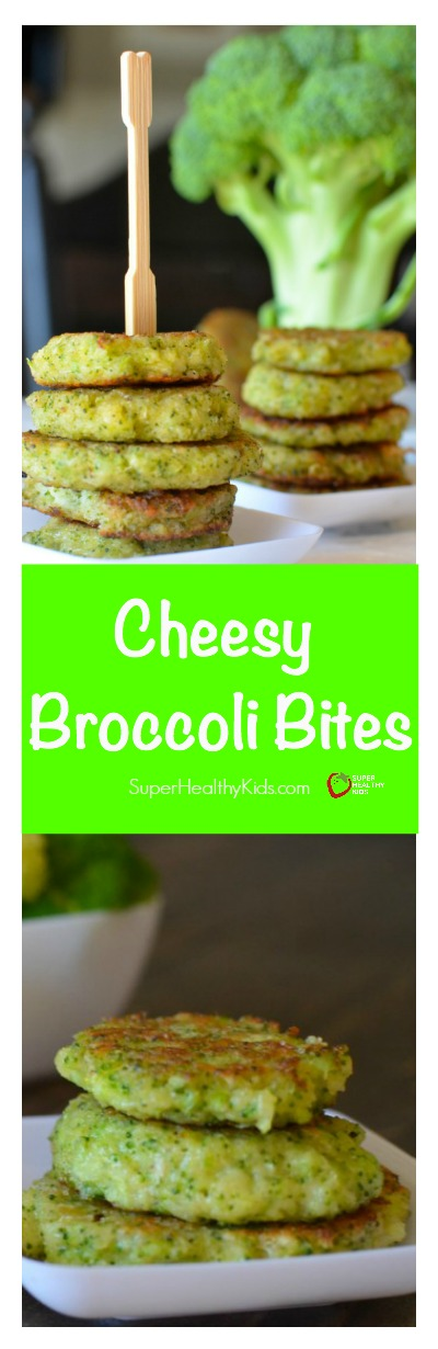 Cheesy Broccoli Bites Recipe. Dinner side dish or snack! Great way to get kids to ask for more broccoli!