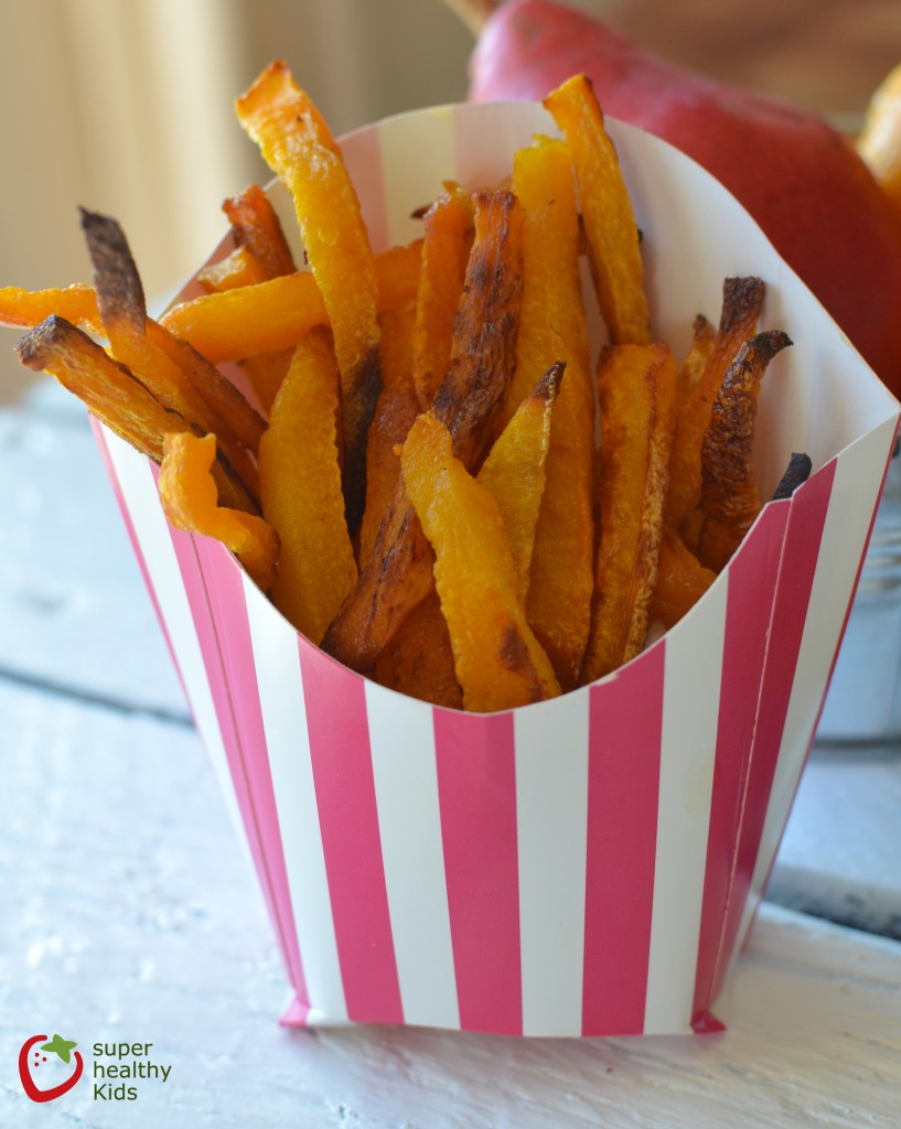 Sweet and Salty Butternut Squash French Fries Recipe. Crispy and delicious way to eat squash.