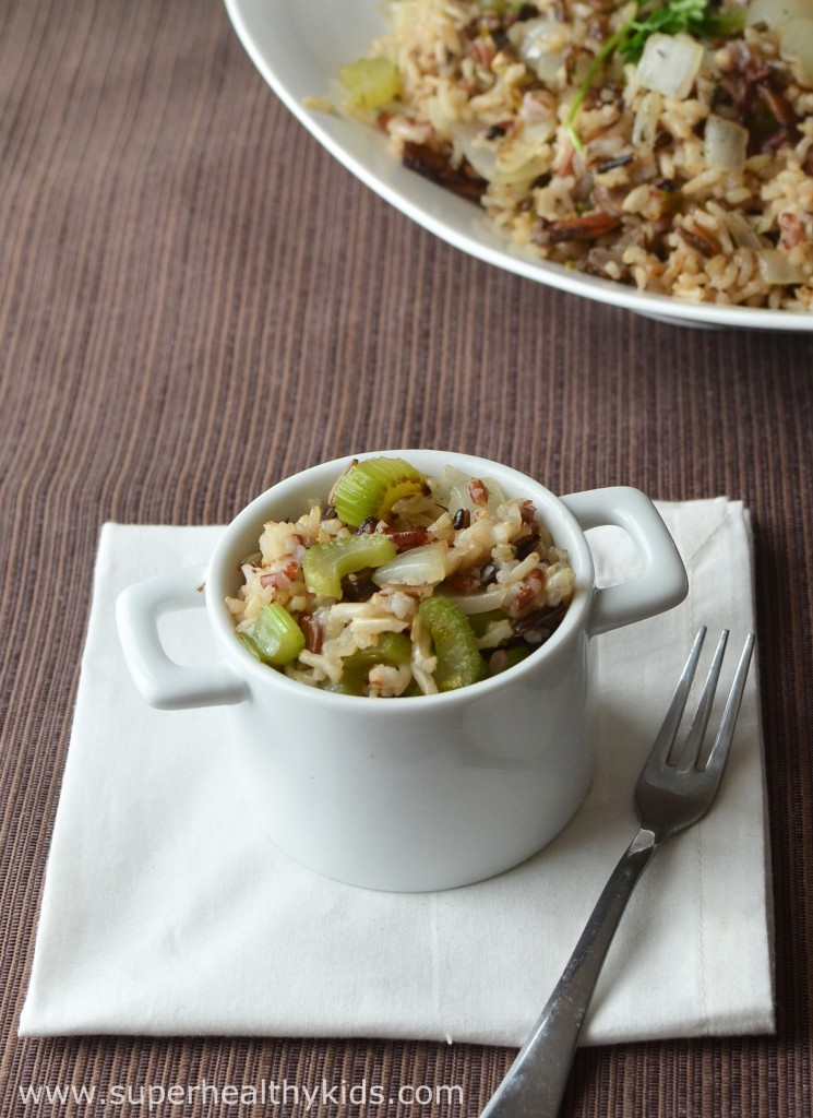 Your Complete Healthy Holiday Meal with Wild Rice Stuffing. Get a jumpstart on your Thanksgiving meal plan with this game changing idea!